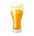 glass with light beer and froth vector image