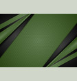 green and black contrast abstract corporate vector image vector image