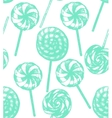 hand drawn lollipop background vector image vector image