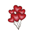 heart balloons icon image vector image vector image
