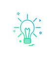 idea icon design vector image