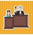 Judge icon design vector image vector image