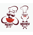 kitchen professionals vector image vector image