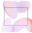 light gradient banner with trendy beautiful pastel vector image vector image