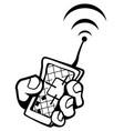location remote gadget drawing vector image vector image