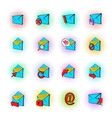 Mail icons set pop-art style vector image vector image