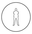 man standing with hands crossed dentist surgeon vector image vector image