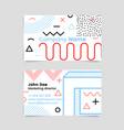 memphis business card vector image