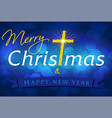 merry christmas card blue vector image