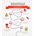 merry christmas infographics timeline with steps vector image