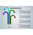 modern infographics with colorful pencil vector image vector image