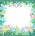 natural banner with stylized green leaves vector image vector image