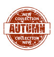 new collection autumn stamp print texture burgundy vector image vector image