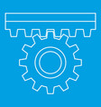 one gear icon outline style vector image vector image