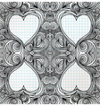 Ornate heart sketch vector image