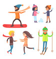 people collection of icons vector image