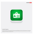personal id card icon green web button vector image
