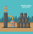 petroleum industry poster vector image