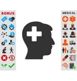 Plus Man Head Icon vector image