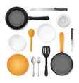 realistic 3d detailed kitchenware or kitchen vector image