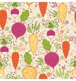Root vegetables seamless pattern background vector image