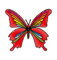 scribble butterfly cartoon vector image