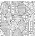 Seamless black and white pattern Easter eggs for vector image vector image