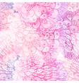seamless floral grunge pink and violet pattern vector image vector image