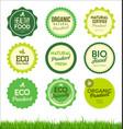 set healthy organic farm fresh product badges vector image vector image