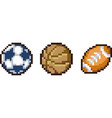 set of pixel sport icons vector image vector image