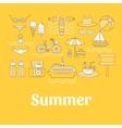 set summer vector image