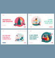 set website landing pages winter festive vector image