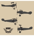 silhouettes retro planes times of World War vector image vector image