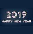 silver 2019 new year christmas on dark background vector image
