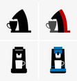single serve coffee maker vector image vector image