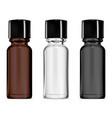 smal glass vial dropper bottle mockup serum set vector image vector image