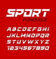 sport style typeface ideal for headlines titles vector image vector image
