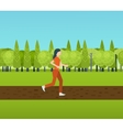 Sport woman run fitness girl jogging vector image vector image