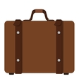 suitcase with handle icon vector image vector image