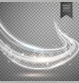 transparent white light streak background vector image vector image