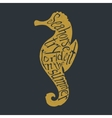 Typography lettering seahorse vector image