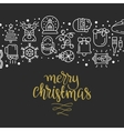with christmas icons vector image vector image
