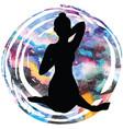 women silhouette cow face yoga pose gomukhasana vector image vector image