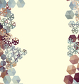Abstract background border with hexagons vector image vector image