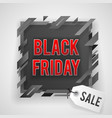 abstract black friday sale tag shop banner vector image vector image