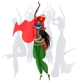 abstract dancing girls vector image vector image