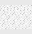 abstract gradient white square paper cut pattern vector image vector image