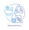 beauty and healthy lifestyle concept icon spa vector image vector image