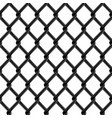 black chrome fence seamless structure vector image