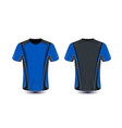 blue and black layout e-sport t-shirt design vector image vector image